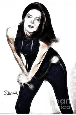 Digital Art - Emma Peel #1 by Stephen Mitchell