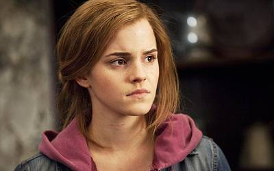 Deathly Hallows Digital Art - Emma Watson In Deathly Hallows Part 2 by F S