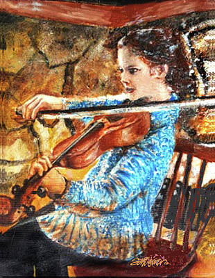 Mixed Media - Emma's Violin by Seth Weaver