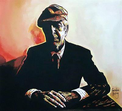 Leonard Cohen Painting - Emmaus Moment by Gordon Irving