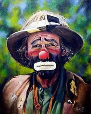 Emmett Kelly Painting - Emmett Kelly Jr by Patti  Jo