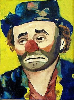 Emmett Kelly Painting - Emmett Kelly by Robin Monroe