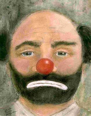 Emmett Kelly Painting - Emmett Kelly Weary Willy by Linda McKenna