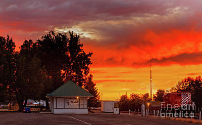 Photograph - Emmett Train Station by Robert Bales
