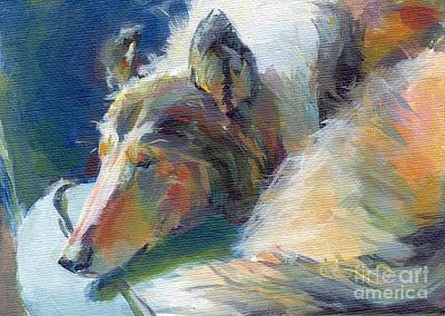 A Dog A Day Painting - Emmies Beauty Sleep by Kimberly Santini