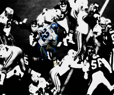 Troy Aikman Mixed Media - Emmitt Smith 3a by Brian Reaves