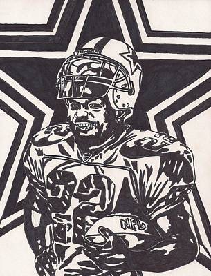 Dallas Cowboys Drawing - Emmitt Smith by Jeremiah Colley