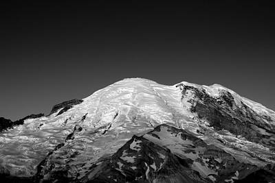 Snow Capped Photograph - Emmons And Winthrope Glaciers On Mount Rainier by Brendan Reals