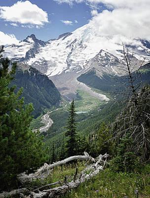 Photograph - Emmons Glacier, Mount Rainier by Lynn Wohlers