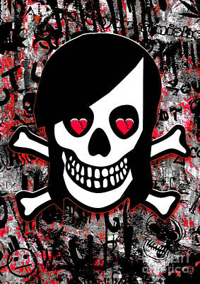 Emo Digital Art - Emo Heart Breaker by Roseanne Jones