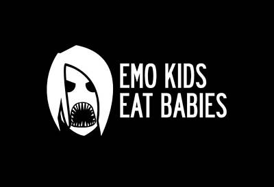 Emo Digital Art - Emo Kids Eat Babies by Mike Lopez