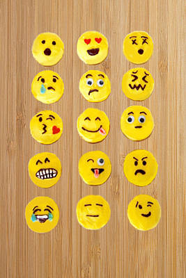 Cartoon Photograph - Emoticon Cookies by Art Spectrum