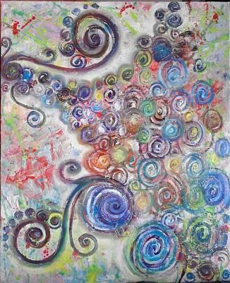 Painting - ''emotion 3'' by Asia Dzhibirova