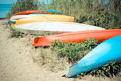 Photograph - Emotion - Kayaks by Colleen Kammerer