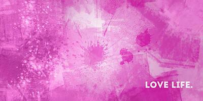 Panoramic Digital Art - Emotional Art Love Life by Melanie Viola