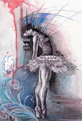 Emotional Ballet Dance Art Print