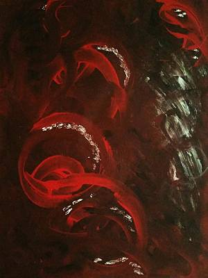 Black Painting - Emotional Swirl by Christina Taylor