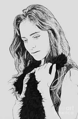 Insecurity Digital Art - Emotional Woman  by Ilan Rosen