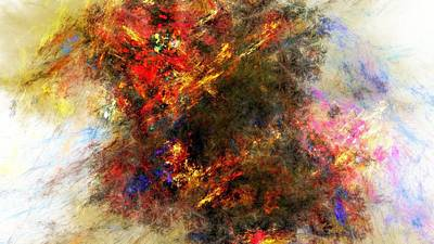 Hate Digital Art - Emotions Are Unpredictable In The Abstract by Movie Poster Prints
