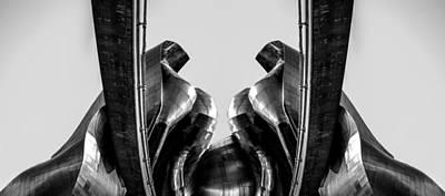 Emp Photograph - Emp Black And White Reflection by Pelo Blanco Photo