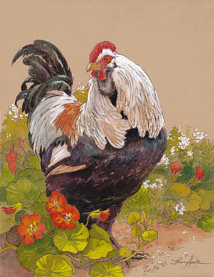 Chicken Painting - Emperor Norton by Tracie Thompson