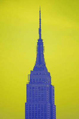Photograph - Empire Blue Lemon Lime Sky by Christopher Kirby
