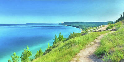 Digital Art - Empire Bluffs  by Digital Photographic Arts