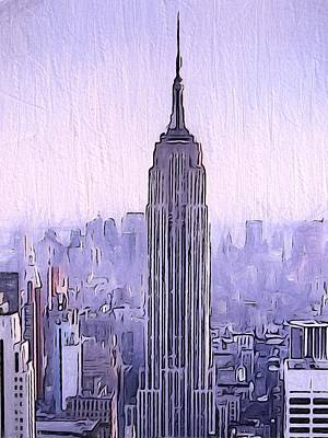 Empire State Building Mixed Media - Empire by Dan Sproul