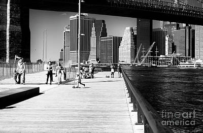 Photograph - Empire Fulton Ferry Boardwalk by John Rizzuto
