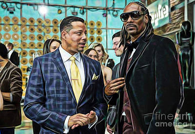 Actors Mixed Media - Empire Lucious And Snoop Dog by Marvin Blaine