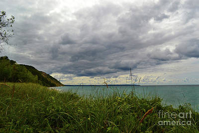 Photograph - Empire Michigan Clouds by Amy Lucid