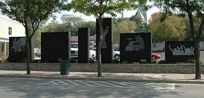 Sculpture - Empire Square Sculpture by Michael Rutland