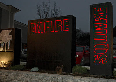 Sculpture - Empire Square Signage by Michael Rutland
