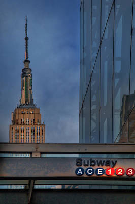 Photograph - Empire State 34th St Subway Nyc  by Susan Candelario
