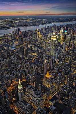 Empire State Aerial View Art Print by Susan Candelario