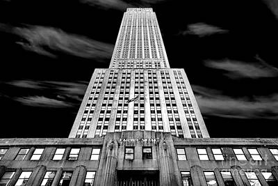 Black And White Images Photograph - Empire State   by Az Jackson