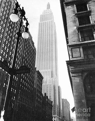 Photograph - Empire State Building, 1931 by Granger
