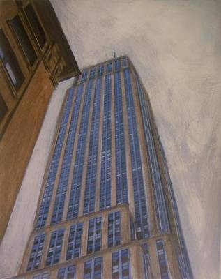 Empire State Building Mixed Media - Empire State Building 2 by Anita Burgermeister