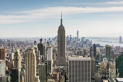 Photograph - Empire State Building And Manhattan Skyline, New York City, Usa by Matteo Colombo