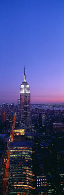 Empire State Building At Sunset, View Art Print