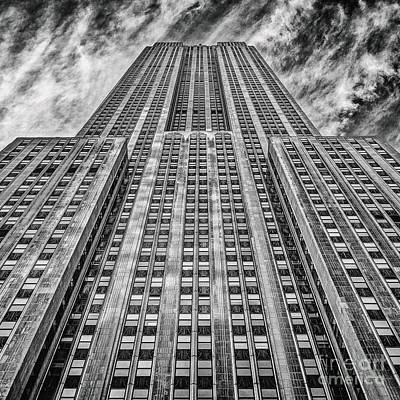 Sniper Photograph - Empire State Building Black And White Square Format by John Farnan