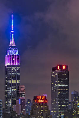 Photograph - Empire State Building Esb At Night by Susan Candelario