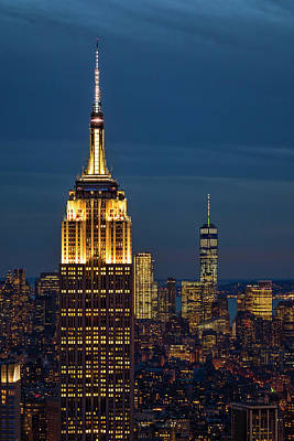 Empire State Building Esb World Trade Center Wtc Nyc Print by Susan Candelario