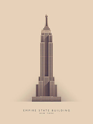 Empire State Digital Art - Empire State Building - Full by Ivan Krpan