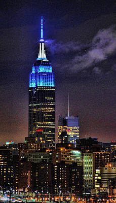 Photograph - Empire State Building In Blue by Jeffrey Friedkin