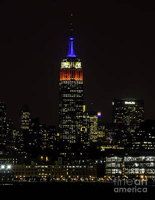 Photograph - Empire State Building In Red White And Blue by Nick Zelinsky