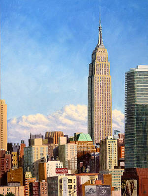 Painting - Empire State Building by Joe Bergholm