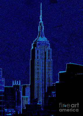 Photograph - Empire State Building Neon by Randall Weidner