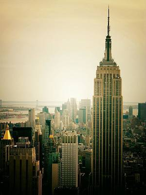 Ny Photograph - Empire State Building New York Cityscape by Vivienne Gucwa
