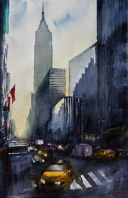 Painting - Empire State Building New York  by Lior Ohayon